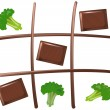 Stock Vector: Tic Tac Toe Chocolate