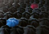 Umbrellas Drizzle — Stock Photo