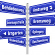 Street Signs Administrative Procedure — Stockvectorbeeld
