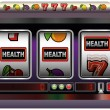 Slot Machine Health — Stock Vector