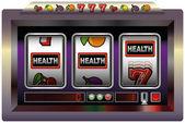 Slot Machine Health — Stock Vector