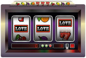 Slot Machine Love — Stock Vector