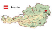 Austria Map — Stock Photo