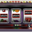 Slot Machine Wealth — Stock Vector