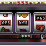 Slot Machine YES — Stock Vector