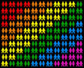 Homosexual Couples — Stock Vector