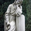 Stone Statue Grieving Woman — Stock Photo