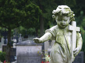 Stone Statue Child — Stock Photo