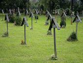 Wooden Grave Crosses — Stock Photo