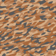 Camouflage Textile Pattern Orange Brown — Stock Vector