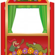Punch And Judy Booth — Stock Vector #36976311