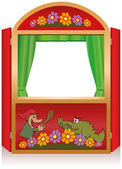 Punch And Judy Booth — Stock Vector