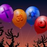 Постер, плакат: Balloons Religion