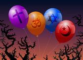 Balloons Religion — Stock vektor