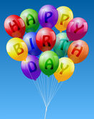 Happy Birthday Balloons — Stock Vector