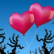 Balloons Love Danger — Stock Vector