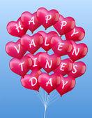 Balloons Valentines — Stock Vector