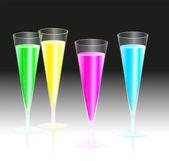 Fluorescent Champagne — Stock Vector