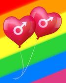Globos de amor gay — Vector de stock