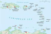 Lesser Antilles, Haiti, Dominican Republic — Stock Vector