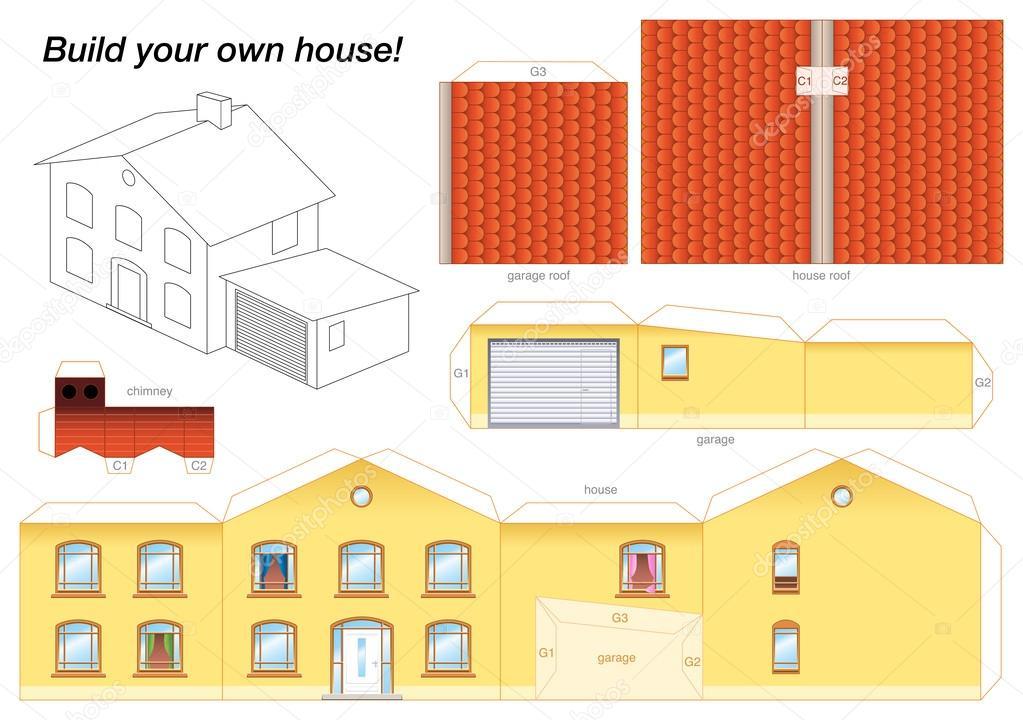 Как сделать бумажный многоэтажный дом