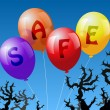 Stock Vector: Balloons Safe