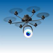 Drone Eye — Stock Vector