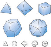 Platonic Solids — Stock Vector