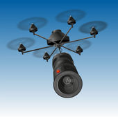 Drone Camera — Stock Vector