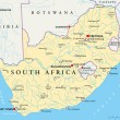 Постер, плакат: South Africa Political Map
