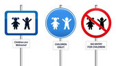 Signs Children — Stock Vector