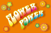 Flower Power Lettering — Foto Stock