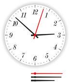 Clock Face Modern — Stock Vector
