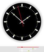 Clock Face Black — Stock Vector