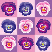Pansy Purple — Stock Vector