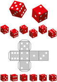 Dice Template — Stock Vector