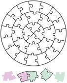 Jigsaw Puzzle Circles — Stock Vector