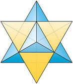 Merkabah - Star Tetrahedron — Stock Vector