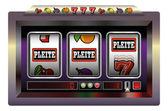 Slot Machine Pleite — Stock Vector