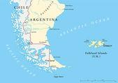 Falklandsöarna policikal karta — Stockvektor