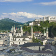 Salzburg City Historic Center With Cathedral — Stock Photo #49016379
