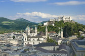 Salzburg City Historic Center With Cathedral — Stock Photo