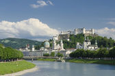 Salzburg City Historic Center Panorama — Stock Photo