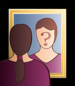 Mirror Who Am I Woman — Stock Vector