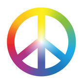 Peace Symbol Rainbow Gradient — Stock Vector