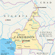 Постер, плакат: Cameroon Political Map