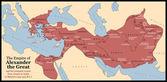 Alexander the Great Empire — Stock Vector