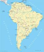 South America Political Map — Stock Vector