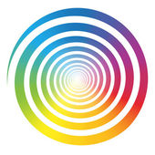 Rainbow Color Gradient Spiral White — Stock Vector