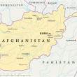 Постер, плакат: Afghanistan Political Map